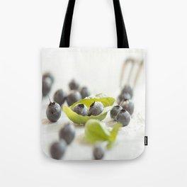 Fresh Bluebeeries with sugar Tote Bag