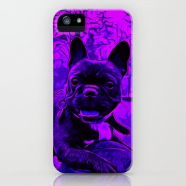 french bulldog basketball vector art purple iPhone Case