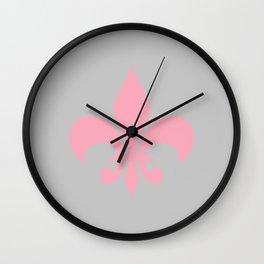 Fleur Pink Wall Clock
