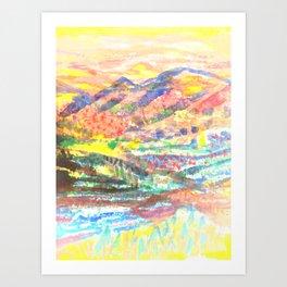 blurred Art Print