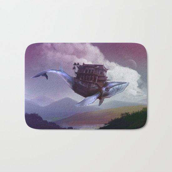 Floating whale Bath Mat
