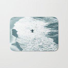 Lone surfer - slate Bath Mat