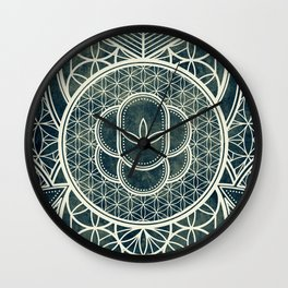 Ultra Sacred Geometry Dark Wall Clock