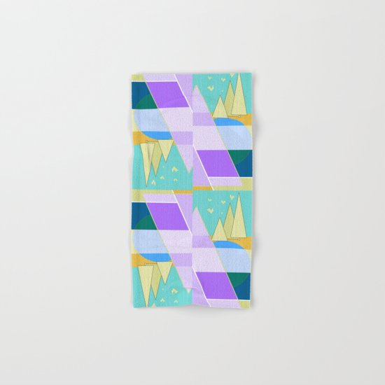Abstraction in purple and blue colors .  Hand & Bath Towel