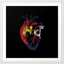 Colorado Heart Art Print