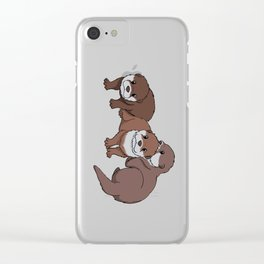 Romp of Baby Otters Clear iPhone Case