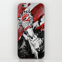 bleach iPhone & iPod Skins featuring Bleach - Hollow Mask by RISE Arts