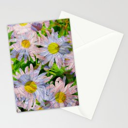 DAISEY MADNESS ABSTRACT  Stationery Cards