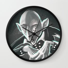 creepy spooky nosferatu Wall Clock