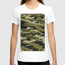 Army pattern T-shirt