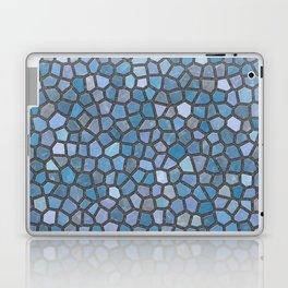 Blue Mosaic Pattern - Dark Laptop & iPad Skin