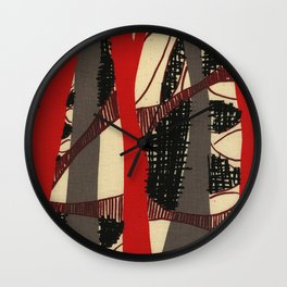 Coronary Contemporary 3 Wall Clock