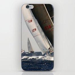 sailrace in Mediterranean Sea iPhone Skin