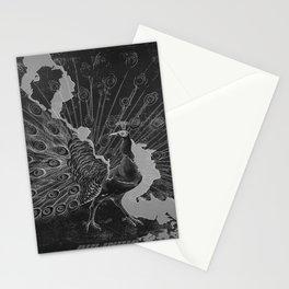 retro retro Peacock poster Stationery Cards