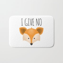I Give No Fox Bath Mat