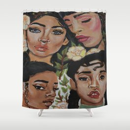 Mysterious Beauties Shower Curtain