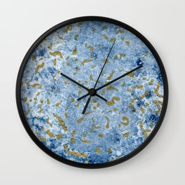 Gold sea II Wall Clock