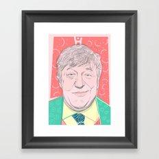 Stephen Fry Framed Art Print