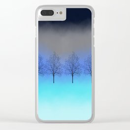 Abstract trees Clear iPhone Case