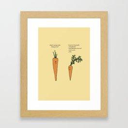 Fancy Carrots Framed Art Print