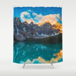Moraine Lake Banff National Park Canada Ultra HD Shower Curtain