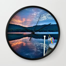 Unicorn Greets the Sun Wall Clock