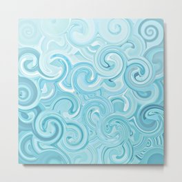 Turquoise Twirls Metal Print