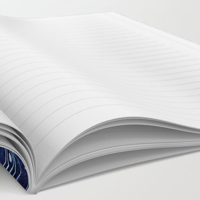 Om Mandala: Violet & Teal Galaxy Notebook