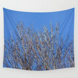 icy branches in sunlight Wall Tapestry