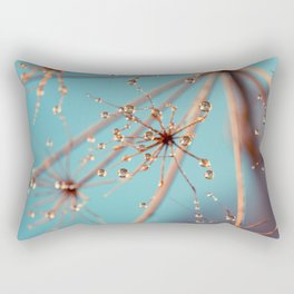 Queen Anne's Lace in Blue Rectangular Pillow