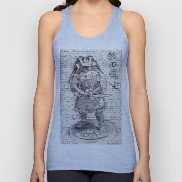 Samurai Observational Drawing Unisex Tank Top