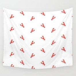 Lobster Pattern #home #decor #summer #orange #animals #sea #beach #pattern Wall Tapestry