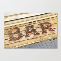 bar Canvas Prints featuring Bar by Chantal Seigneurgens