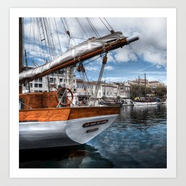 The Moored Boat Art Print