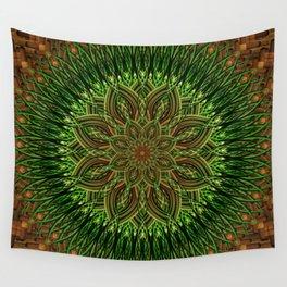 Earth Flower Mandala Wall Tapestry