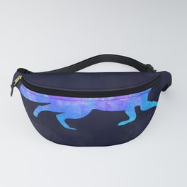 FOX IN SPACE // Animal Graphic Art // Watercolor Canvas Painting // Modern Minimal Cute Fanny Pack