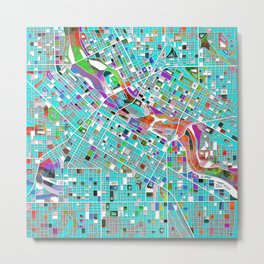 minneapolis city map Metal Print