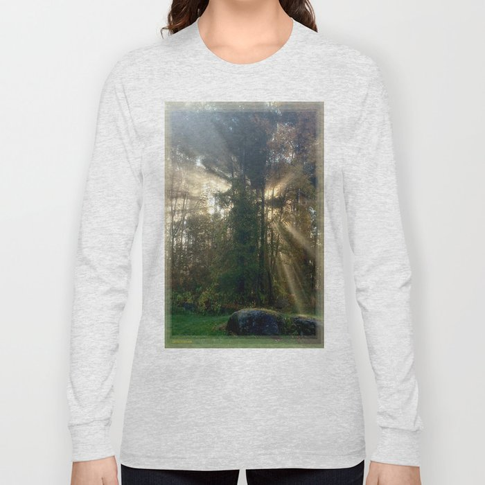 Sunlight Streams - Vermont Morning Glory Long Sleeve T-shirt