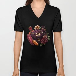 Sorcerer Class D20 - Tabletop Gaming Dice Unisex V-Neck