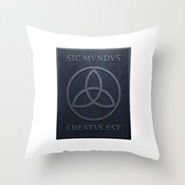 SIC MUNDUS CREATUS EST Throw Pillow