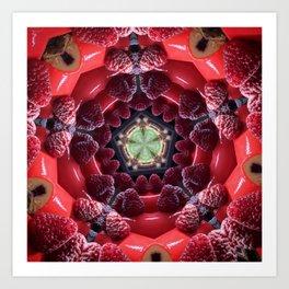 Raspberry Tunnel Art Print