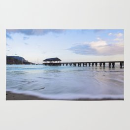 Hanalei Bay Pier at Sunrise Rug