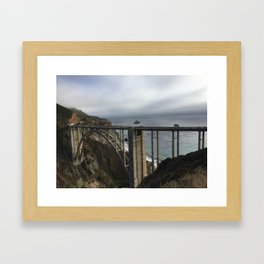 Looking through Bixby Framed Art Print