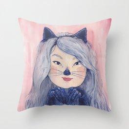 BaeBae Kitty Throw Pillow