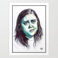 my mad fat diary Art Prints featuring My Mad Fat Diary - Rae Earl by Sara (aka Wisney)