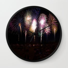 4th of July Fireworks Finale '15 Wall Clock