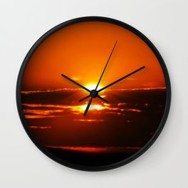 Sunrise makes the day bliss Wall Clock