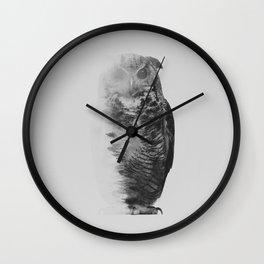 The Owl (black & white version) Wall Clock