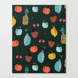 Tutti Fruit Pattern by Andrea Lauren Canvas Print