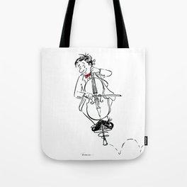 Funny Cello Player Cartoon - Pogo Cellist Tote Bag